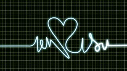 Animation signal ligne coeur ecran electrocardiogramme