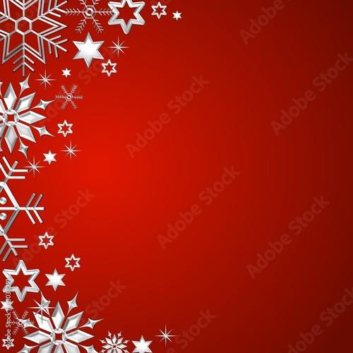 Weihnachtsrahmen auf rotem Hintergrund
