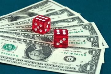 Money and  dice.