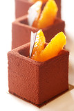 Fancy Chocolate Cake with Oranges poster
