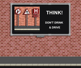 Advertising board with anti drink drive campaign poster