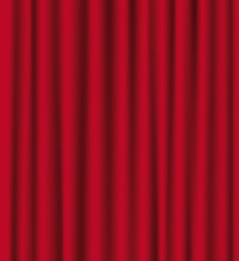 Theatre red curtains