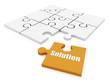 solution orange puzzle