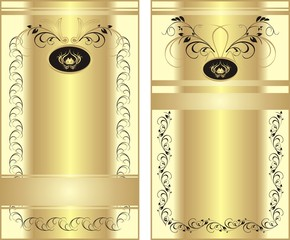 Two patterns with ornament for wrapping. Vector