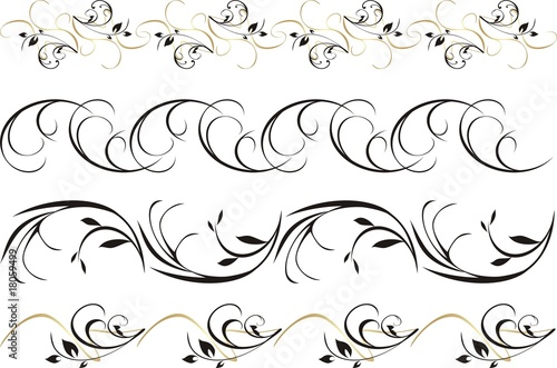 Four patterns of ornament for frame. Vector