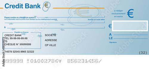 Ch que bancaire vierge fichier vectoriel libre de droits sur la b - Report de paiement de 3 mois par cb ...