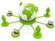 Global Computer Network green Africa