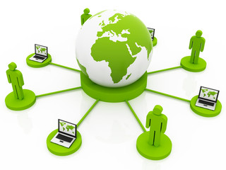 Global Computer Network green Africa