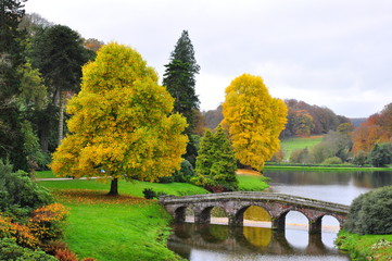 Stourhead Garden - Lake and Bridge in Autumn #1