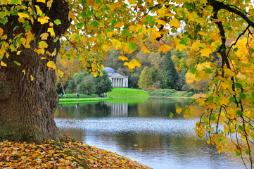 Stourhead Garden and Temple in Autumn #1