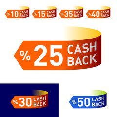 Get cash back. Easily changeable colors and backs in vector.