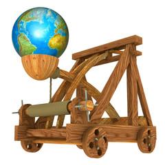 Catapulta e Planeta Terra