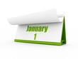 calendar, January day one