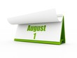 calendar, august day one