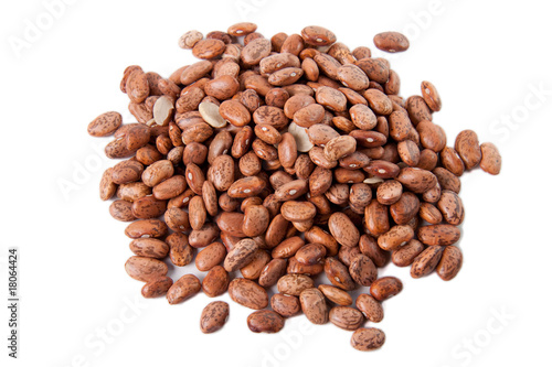 Pinto beans isolated against white