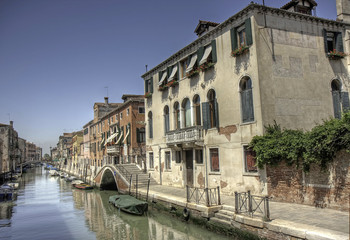 Urban Scene at a canal in Cannaregio, Venice