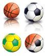 Bolas de Futebol e Basquete (Soccer and Basketball)
