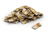euro falling money 50