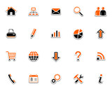 Web icons, pictograms poster