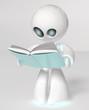Detaily fotografie Bílé robot, který čte