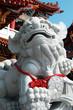 Asian Lion Statue in Lu Er Men Tainan, Taiwan