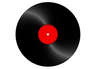 drehende Schallplatte