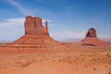 East and West Mitten Buttes at Monument Valley poster