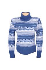 Blue stylish sweater on a white.