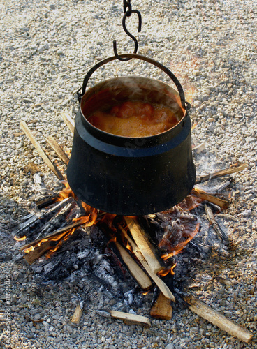 Kettle on an open fire
