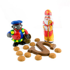 Black piet, Sinterklaas with sinterklaas candy