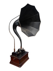 Antique Cylinder Gramophone with path