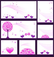Pink reception card set 5