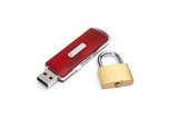 USB flash drive with a lock