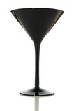 Black martini glass on white with clipping path