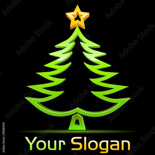 Weihnachtsbaum 3d vektor logo von dark vectorangel lizenzfreier vektor 18080441 auf - Weihnachtsbaum vektor ...