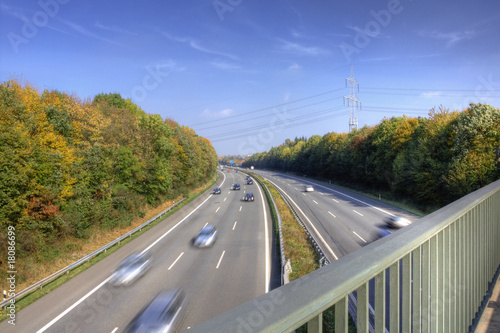 canvas print picture Autobahn