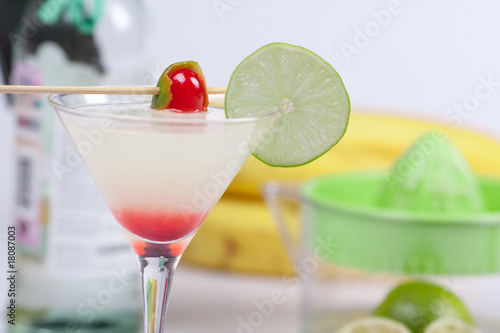 Cocktail with lime juice