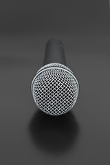 Front View of Vocal Microphone