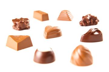 sweet chocolate bombon