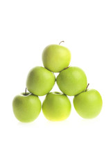 apple piramide on white