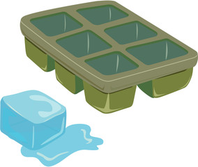 ice and tray