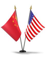 China and Europe desktop flag