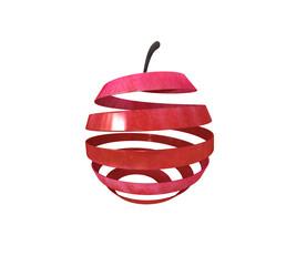 Apfel aufgewickelt