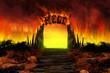 Leinwanddruck Bild - The HELL on fire