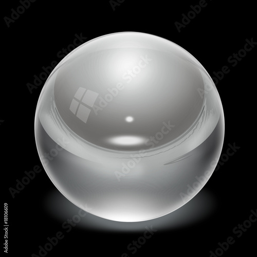 Crystal Ball on black background
