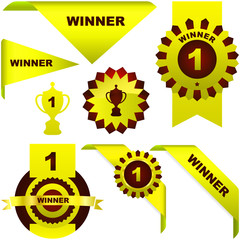 Gold awards. Vector set.