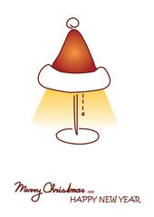 Shining Christmas lamp on the white background