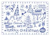 Christmas doodles / vector illustrations set poster