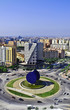 Roundabout  in Valencia Spain with modern architecture.