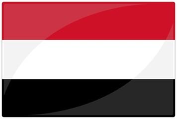 drapeau glassy yemen flag
